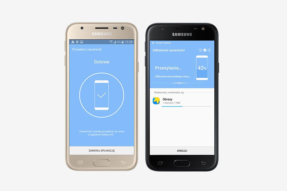 Samsung Szybkie przenoszenie plików z aplikacją Smart Switch