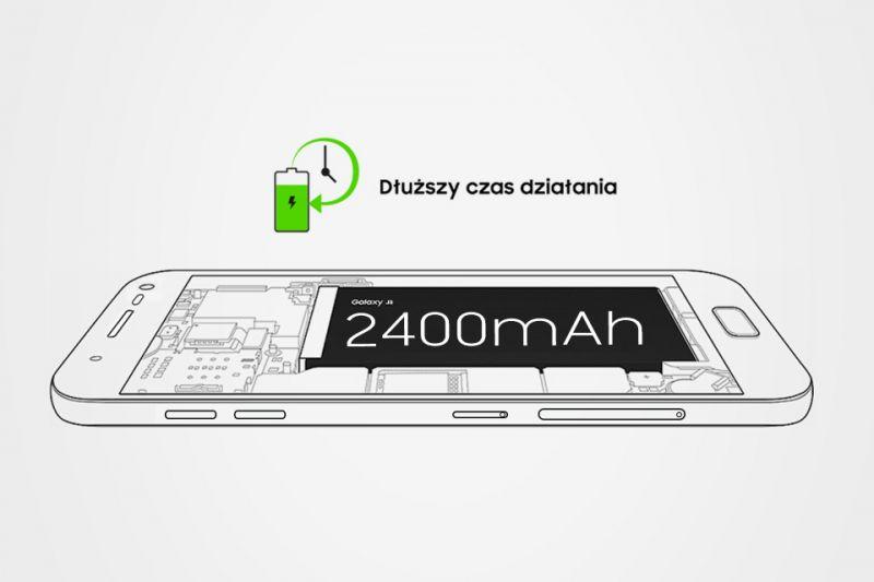 Samsung Długi czas pracy. Bateria 2400 mAh