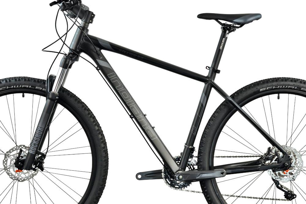 Rower górski MTB INDIANA X-Pulser 5.9 M21 29 cali męski Czarno-grafitowy rozmiar ramy 21-calowa aluminiowa lekka odporność na korozję i uszkodzenia mechaniczne