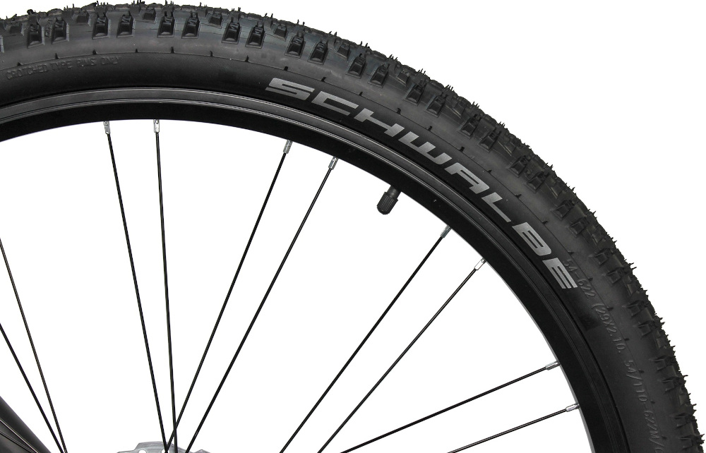 Rower górski MTB INDIANA X-Pulser 5.9 M21 29 cali męski Czarno-grafitowy duże 29-calowe koła grube opony marki SCHWALBE piasty marki SHIMANO Deore wytrzymałe na uszkodzenia doskonale tłumią drgania