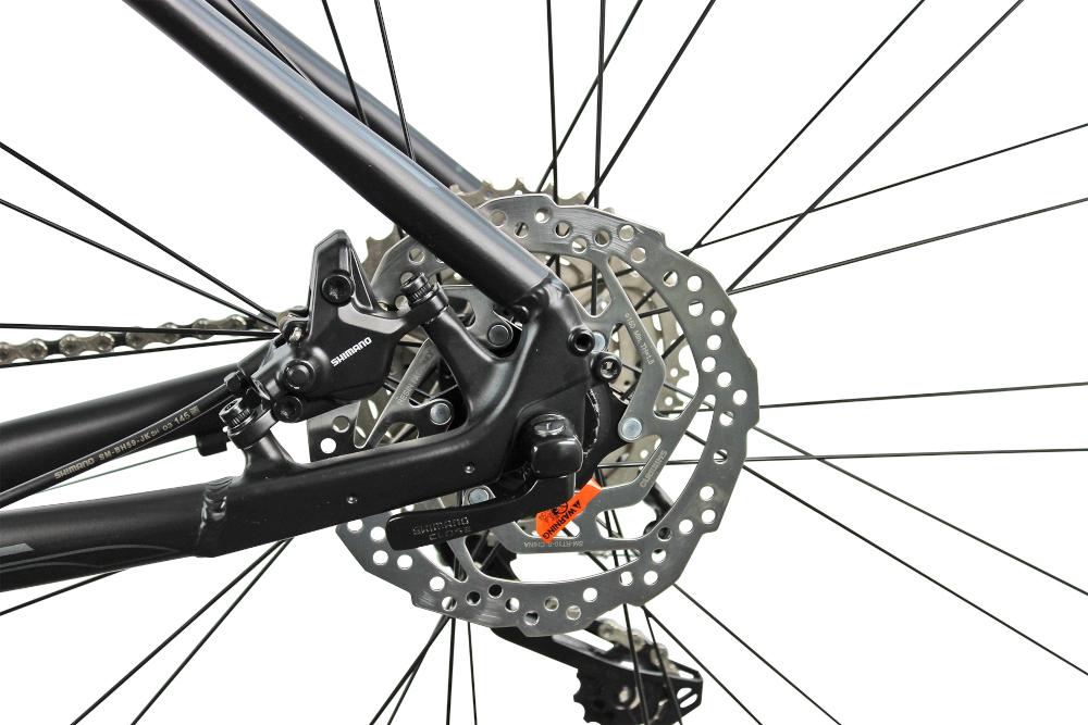 Rower górski MTB INDIANA X-Pulser 5.9 M21 29 cali męski Czarno-grafitowy hamulce tarczowo-hydraulicznena tył i przód marki SHIMANO Acera niezawodne lekkie szybki czas reakcji bezawaryjne na każdą nawierzchnię