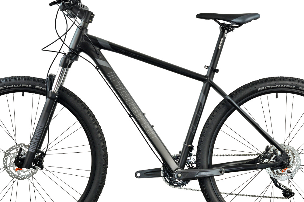 Rower górski MTB INDIANA X-Pulser 5.9 M23 29 cali męski Czarno-grafitowy rozmiar ramy 21-calowa aluminiowa lekka odporność na korozję i uszkodzenia mechaniczne